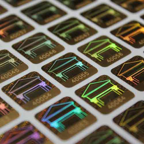 Holograms with Laser Engraved Number